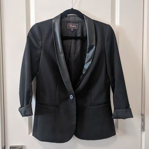 Madewell Buckley Tailors Blazer with Leather Trim